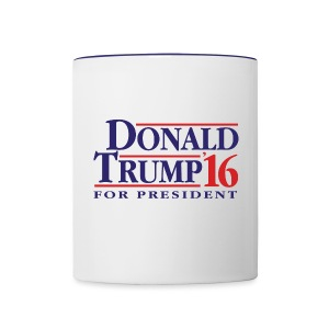 Donald Trump 16 Coffee Mug - Blue - Contrast Coffee Mug