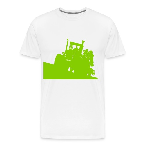 Steiger tractor with disc - Men's Premium T-Shirt