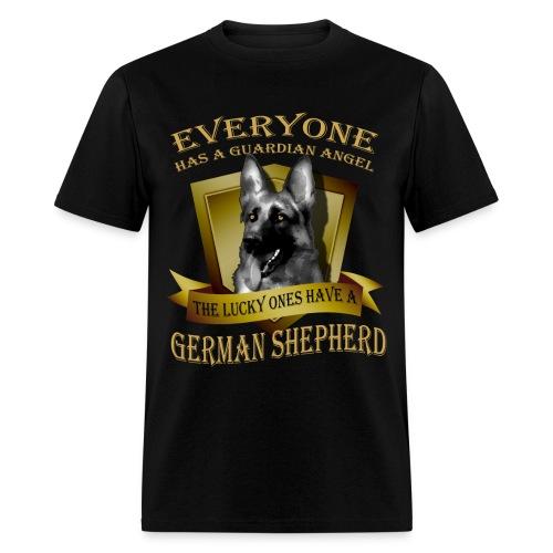 German Shepherd Angel Tee - Men's T-Shirt