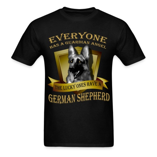 German Shepherd Angel Tee - Men's T-Shirt
