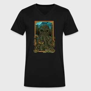 Answer the Call of Cthulhu - Men's V-Neck T-Shirt by Canvas
