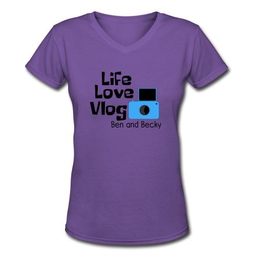 Women's V-Neck w/Ben and Becky - Women's V-Neck T-Shirt