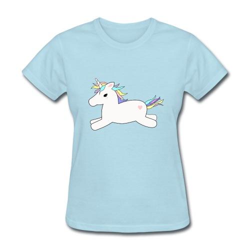 baby blue T-shirt - unicorn - Women's T-Shirt