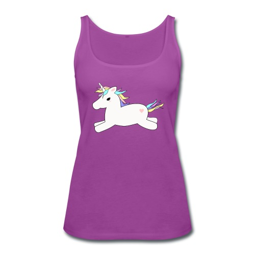 purple tank top - unicorn - Women's Premium Tank Top