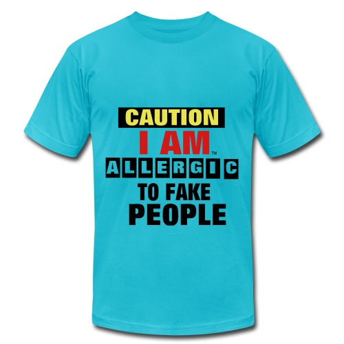 fakers beware - Men's Fine Jersey T-Shirt