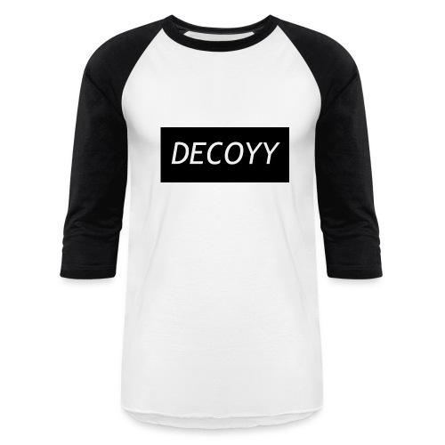 DECOYY DECOYY BASEBALL SLEEVE - BLK on WHT - Baseball T-Shirt