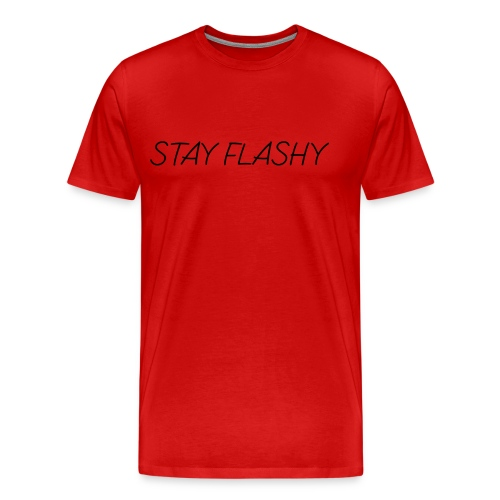 DECOYY STAY FLASHY SHORT SLEEVE - BLK on RED - Men's Premium T-Shirt