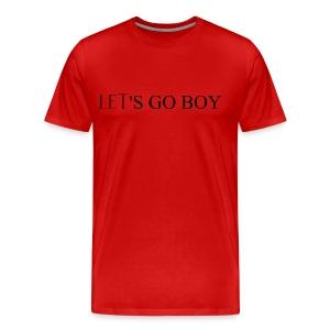 DECOYY LET'S GO BOY SHORT SLEEVE - BLK on RED - Men's Premium T-Shirt