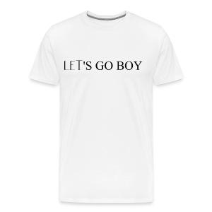 DECOYY LET'S GO BOY SHORT SLEEVE - BLK on WHT - Men's Premium T-Shirt