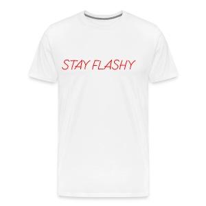DECOYY STAY FLASHY SHORT SLEEVE - RED on WHT - Men's Premium T-Shirt