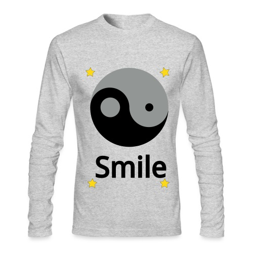 Yin Yang smile - Men's long sleeve t-shirt - Men's Long Sleeve T-Shirt by Next Level