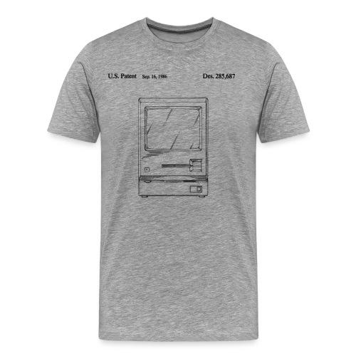 Macintosh patent drawing, men's - Men's Premium T-Shirt