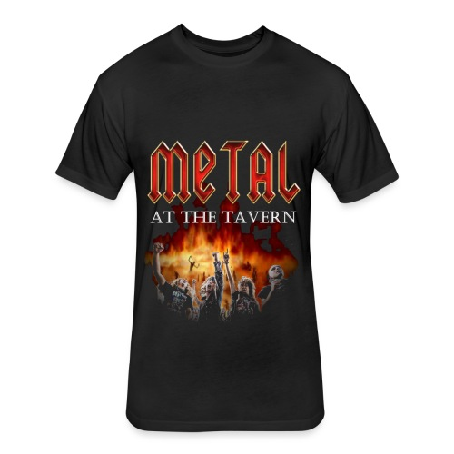 Metal At The Tavern Single Sided Black T-Shirt - Fitted Cotton/Poly T-Shirt by Next Level