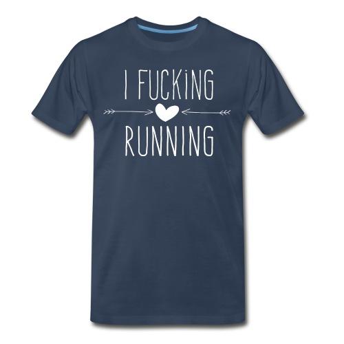 Men's performance t-shirt (grey / blue / yellow) - Men's Premium T-Shirt