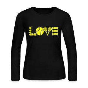 Tennis Love Shirt - Women's Long Sleeve Jersey T-Shirt