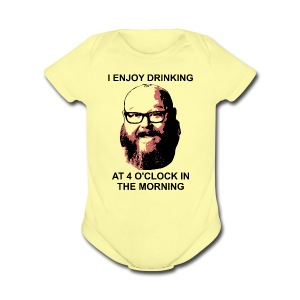 Dr. Sloppy Drinks at 4AM - Short Sleeve Baby Bodysuit