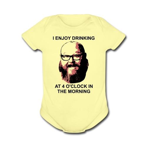 Dr. Sloppy Drinks at 4AM - Organic Short Sleeve Baby Bodysuit