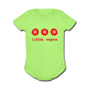 3 Carrots Little Vegan One Piece - Short Sleeve Baby Bodysuit