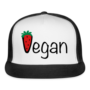 Vegan Strawberry Trucker Cap (Green) - Trucker Cap