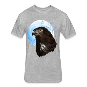 Black-chested snake eagle  - Fitted Cotton/Poly T-Shirt by Next Level