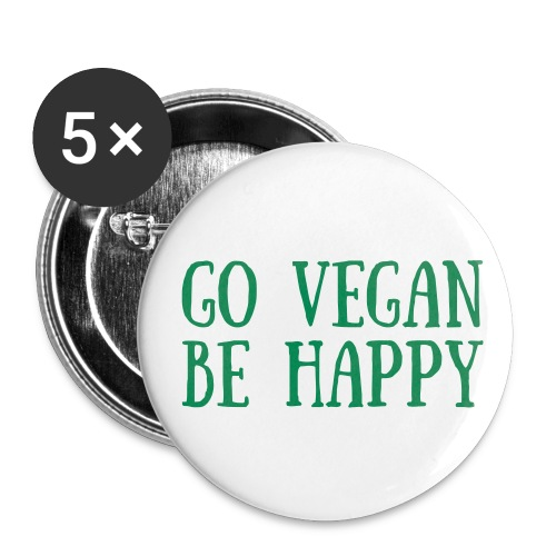 Buttons small 1'' (5-pack) - veganish_official,inkbyelle