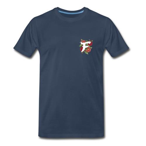 Navy Fewso Floral Shirt - Men's Premium T-Shirt