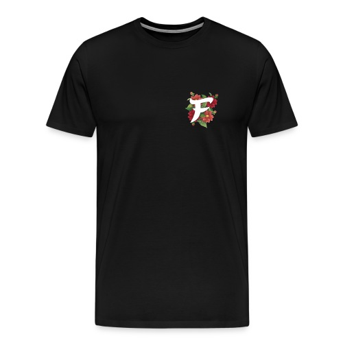 Black Fewso Floral Shirt - Men's Premium T-Shirt