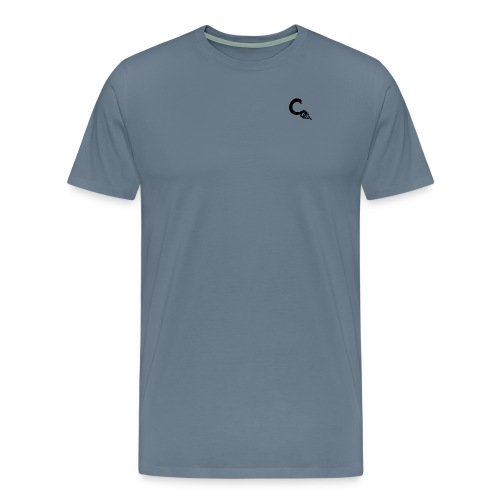 Men's Light Blue - Black Small Logo Shirt - Men's Premium T-Shirt