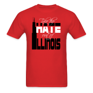 T-Shirts ~ Men's T-Shirt ~ Take the Hate out of Illinois
