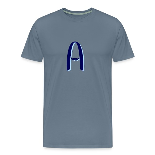 Vision Tee (Midnight Blue On Pale Blue) - Men's Premium T-Shirt