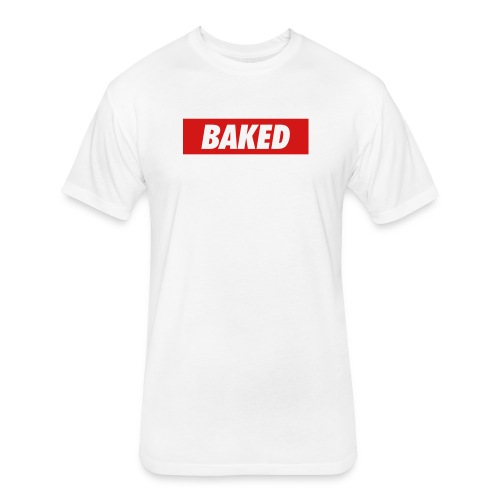 Baked Box Logo Tee - Fitted Cotton/Poly T-Shirt by Next Level