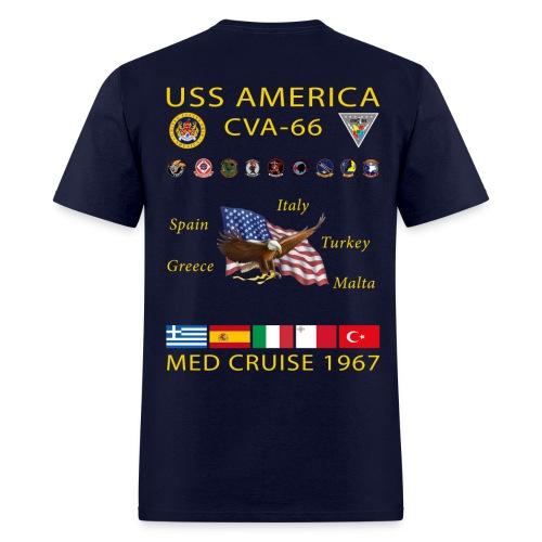 USS AMERICA CVA-66 1967 CRUISE SHIRT - Men's T-Shirt