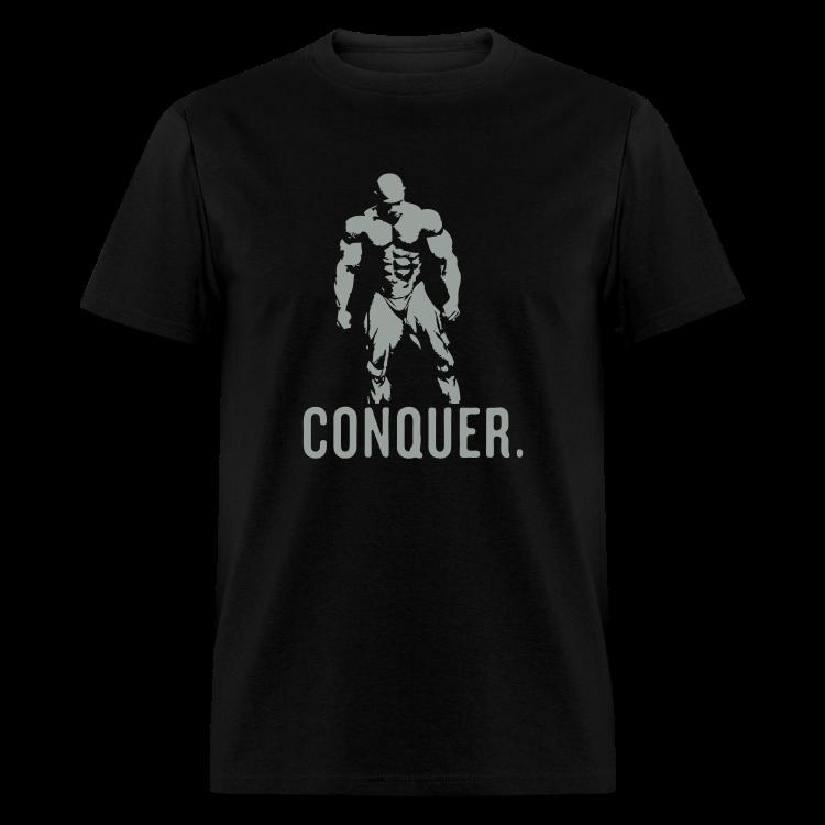 conquer black grey