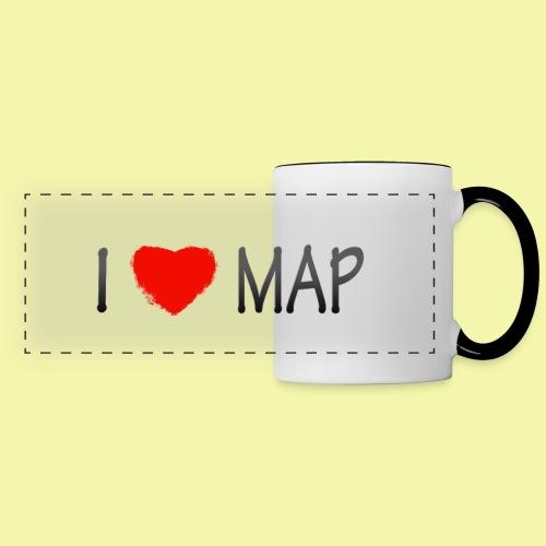 I Love Map !00% Ceramic Mug - Panoramic Mug