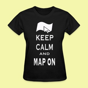 Map On Womens Relaxed Fit T-Shirt - Women's T-Shirt