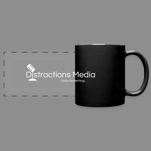 Distractions Media Mug (Black) - Full Color Panoramic Mug
