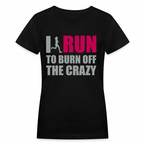 iRun - Women's V-Neck T-Shirt