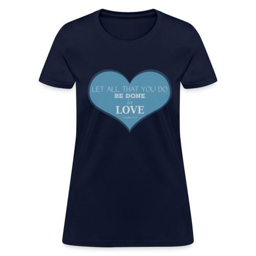 Blue Love T-Shirts - Women's T-Shirt