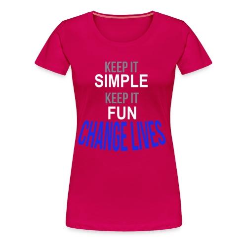 Women's Keep it Simple, Fun - Women's Premium T-Shirt