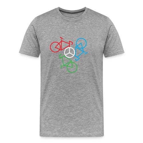 Bike Peace White - Men's Premium T-Shirt
