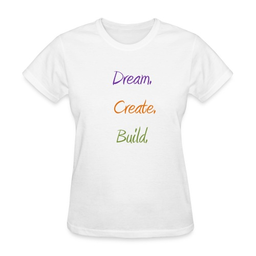Dream. Create. Build.  - Women's T-Shirt