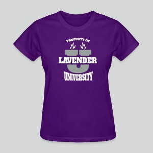 Women's T Shirt: Lavender University - Women's T-Shirt
