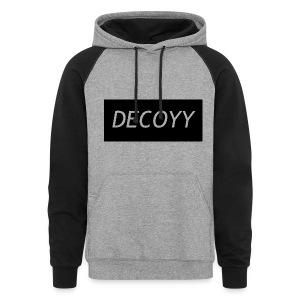 DECOYY DECOYY JACKET -  BLK ON GRY - Colorblock Hoodie