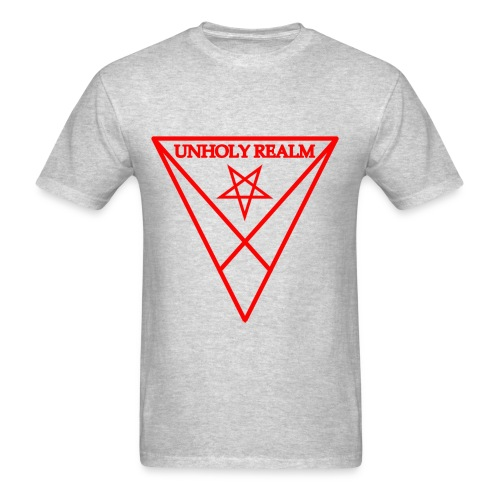 REALM RED & GRAY MENS - Men's T-Shirt