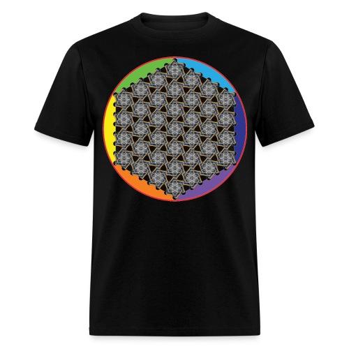 Rainbow Flower of Life White - Men's T-Shirt