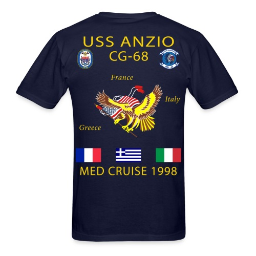 USS ANZIO CG-68 1998 CRUISE SHIRT - Men's T-Shirt