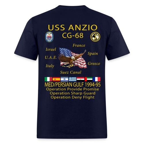 USS ANZIO CG-68 1994-95 CRUISE SHIRT - Men's T-Shirt