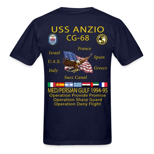 USS ANZIO CG-68 1994-95 CRUISE SHIRT - Men's T-Shirt