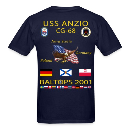USS ANZIO CG-68 2001 CRUISE SHIRT - Men's T-Shirt