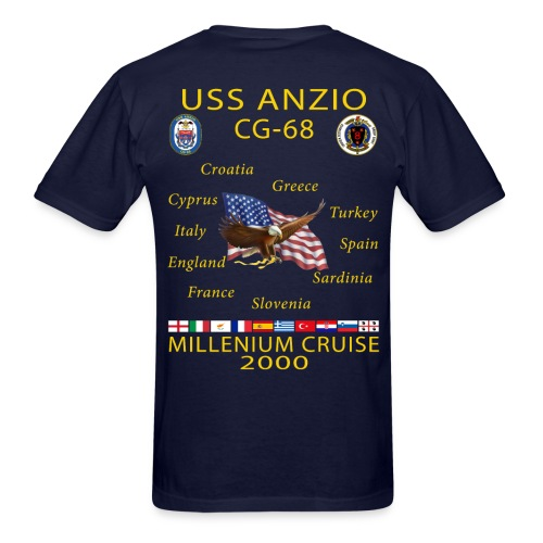 USS ANZIO CG-68 2000 CRUISE SHIRT - Men's T-Shirt